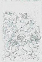 Fantastic Four 59 Unpublished Cover Comic Art