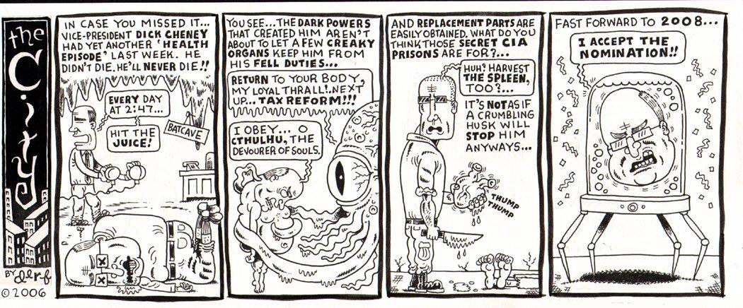 'The City' Political Cartoon Strip (2006)