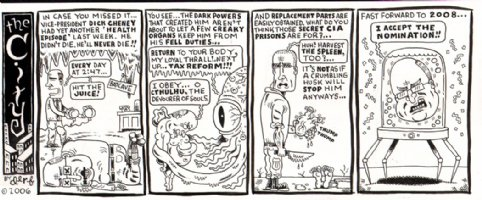 'The City' Political Cartoon Strip (2006) Comic Art