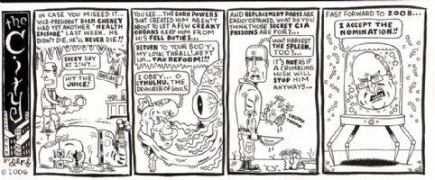 'The City' Political Cartoon Strip (2006) Comic Art
