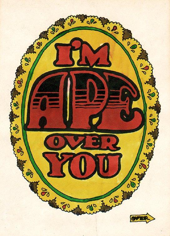 TOPPS - Monster Greeting Card Illustration Original Card Art (Topps, 1966)