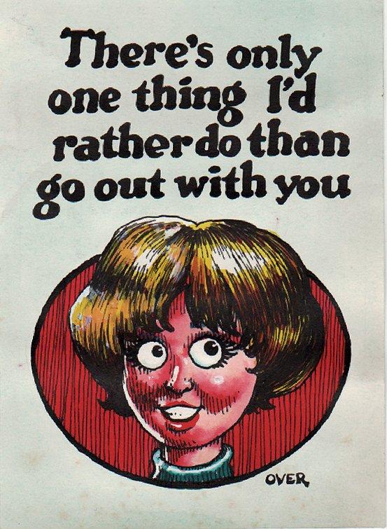 TOPPS - Monster Greeting Card Illustration Original Card Art #38 (Topps, 1966)