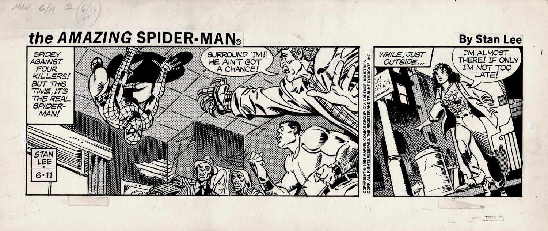 Amazing Spider-Man 2 Panel Daily Strip Art 6-11-1984