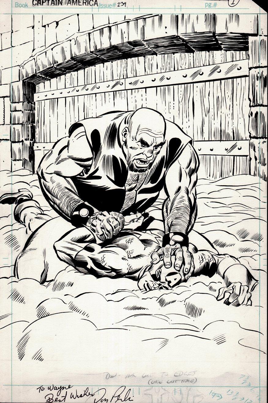 Captain America #239 p 1 SPLASH & Published Captain America #46 Cover (1979)