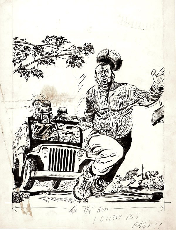 Monty Hall Of The U.S. Marines #10 Cover (Large Art) 1952