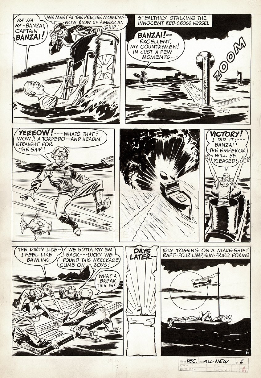 All-New Comics #6 p 6 (World War 2 Battle Pg) 1943