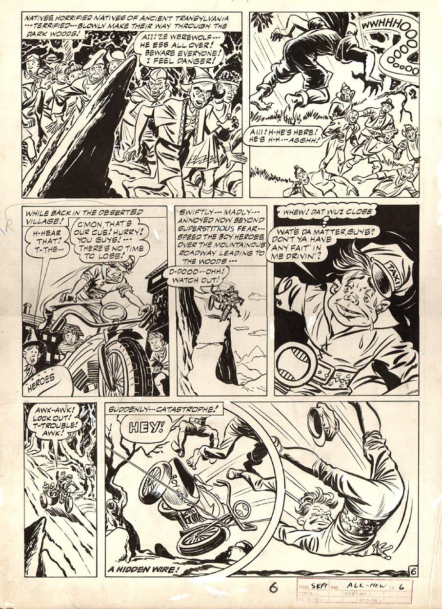 All-New Comics #10 p 6 (Large Art) 1944