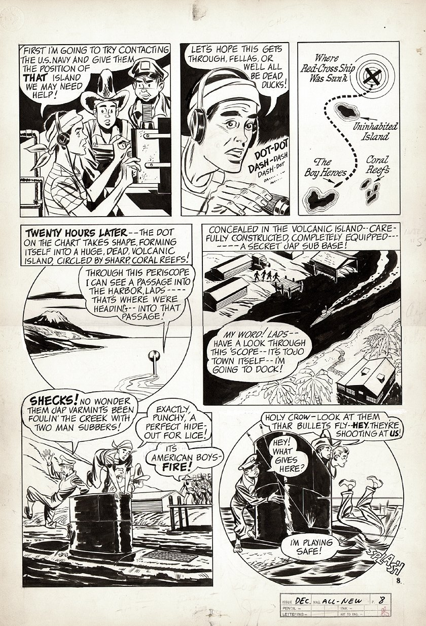 All-New Comics #6 p 8 (World War 2 Battle Pg) 1943