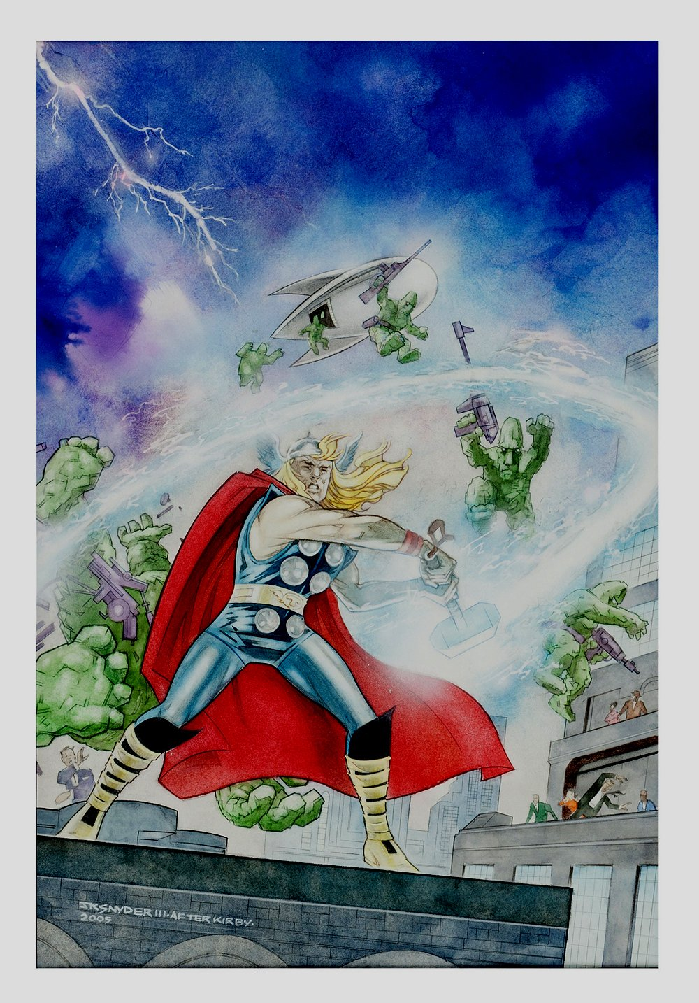 Overstreet Comic Book Price Guide 36th Edition Cover Painting (Very Large) 2005