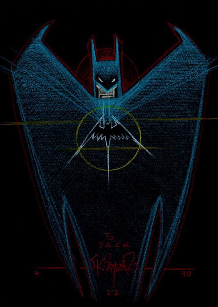 Batman Pastel Hand-Colored Pinup (1990)