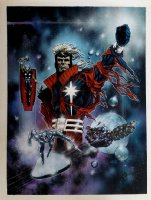 Marvel Painted Poster Art (Captain Marvel, Silver Surfer, Beta Ray Bill, Wasp) 1995 Page pt Comic Art