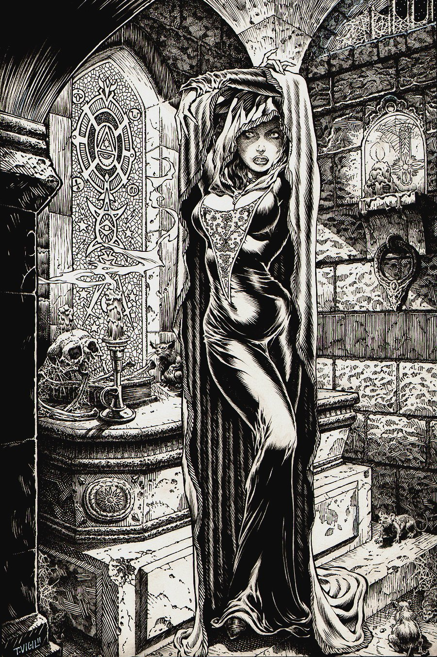 'The Crypt' Stunning Pinup