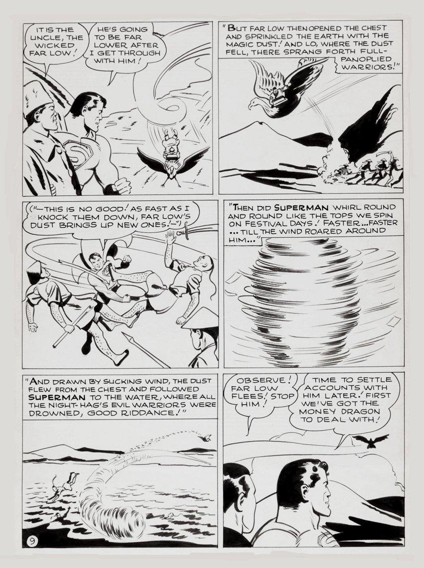 Superman #54 Unpublished Story Page (Large Art)