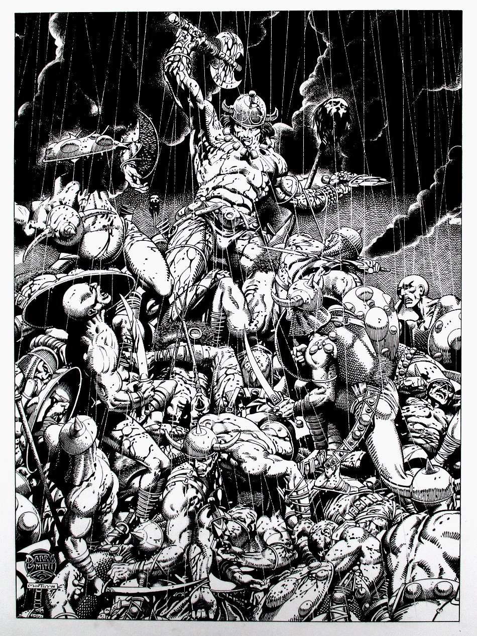 Conan - Barry Smith 'Tupenny' Homage Illustration (Large) 2014