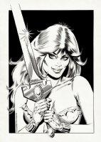 AXA Sexy Pinup Comic Art