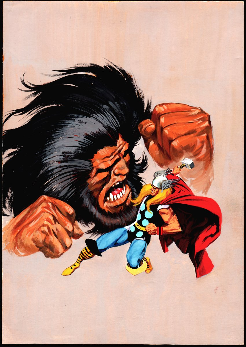 Thor #22 Cover Painting (Story Reprints THOR #137!) 1972