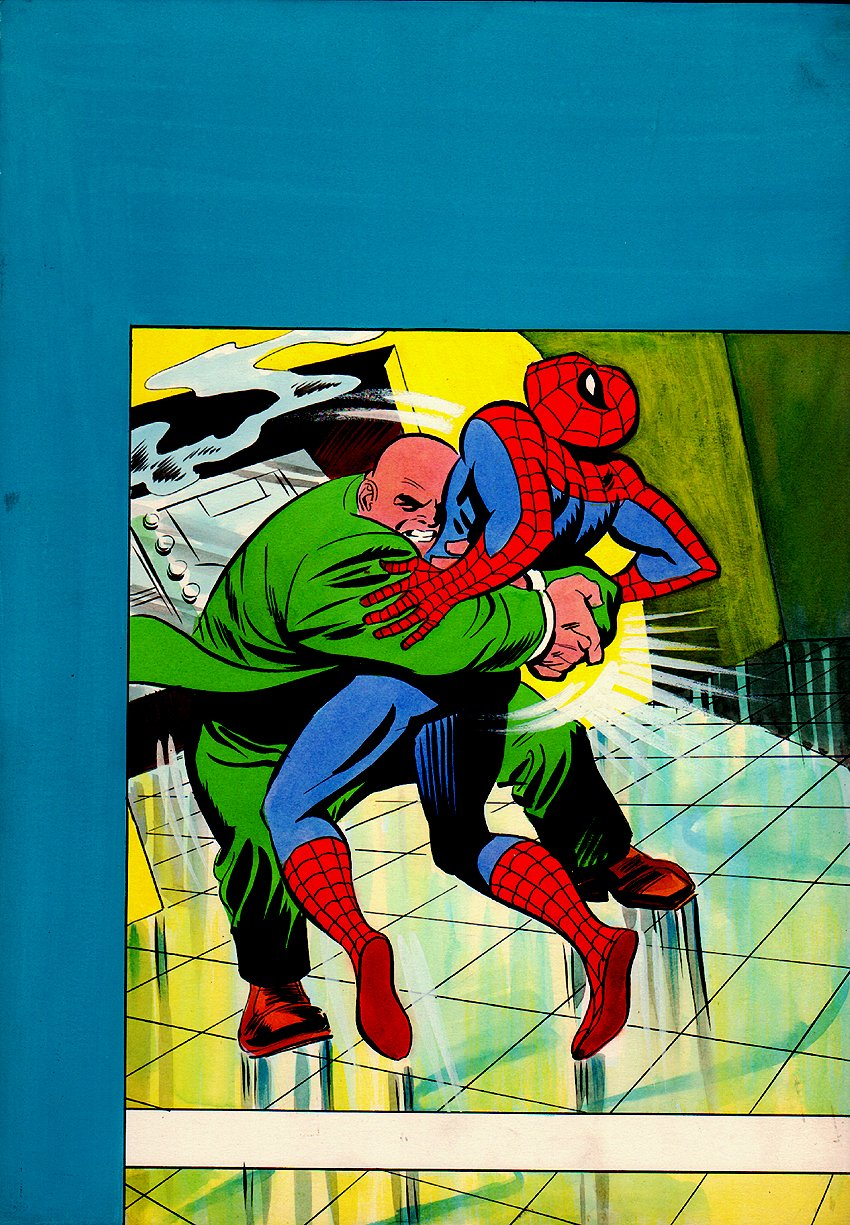 Spiderman #33 Cover Painting (Cover Reprints AMAZING SPIDER-MAN #69!) 1978)