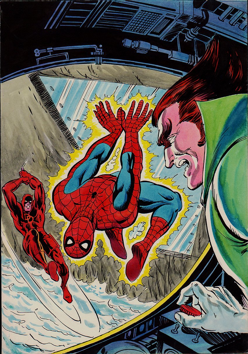 Super Heroes #99 Cover Painting (Cover Reprints Marvel Team-Up #73!) 1979