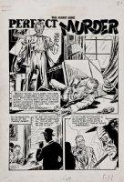 War Against Crime! #10 p 1 SPLASH (Large Art) 1950 Comic Art