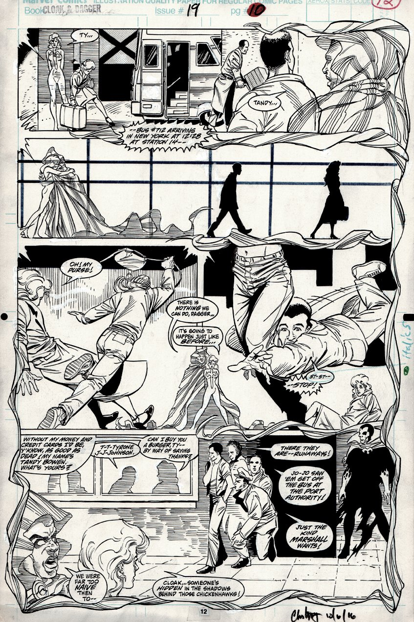 Cloak and Dagger #19 p 12 (Cloak and Dagger ORIGIN PAGE!) 1991