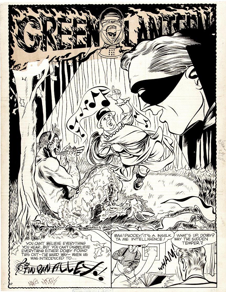 Golden Age Green Lantern p 1 Splash Unpublished (Large Art) 1940s