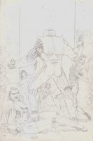 X-O Manowar #6 Unpublished Penciled Cover Comic Art