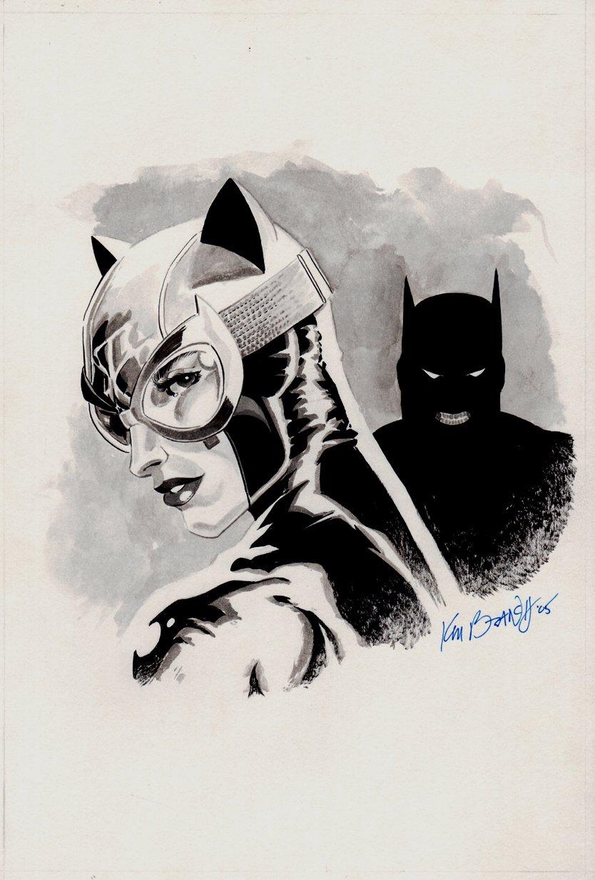 Batman & Catwoman Mixed Media Pinup (2005)