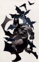 Batman And Bats Pinup Comic Art