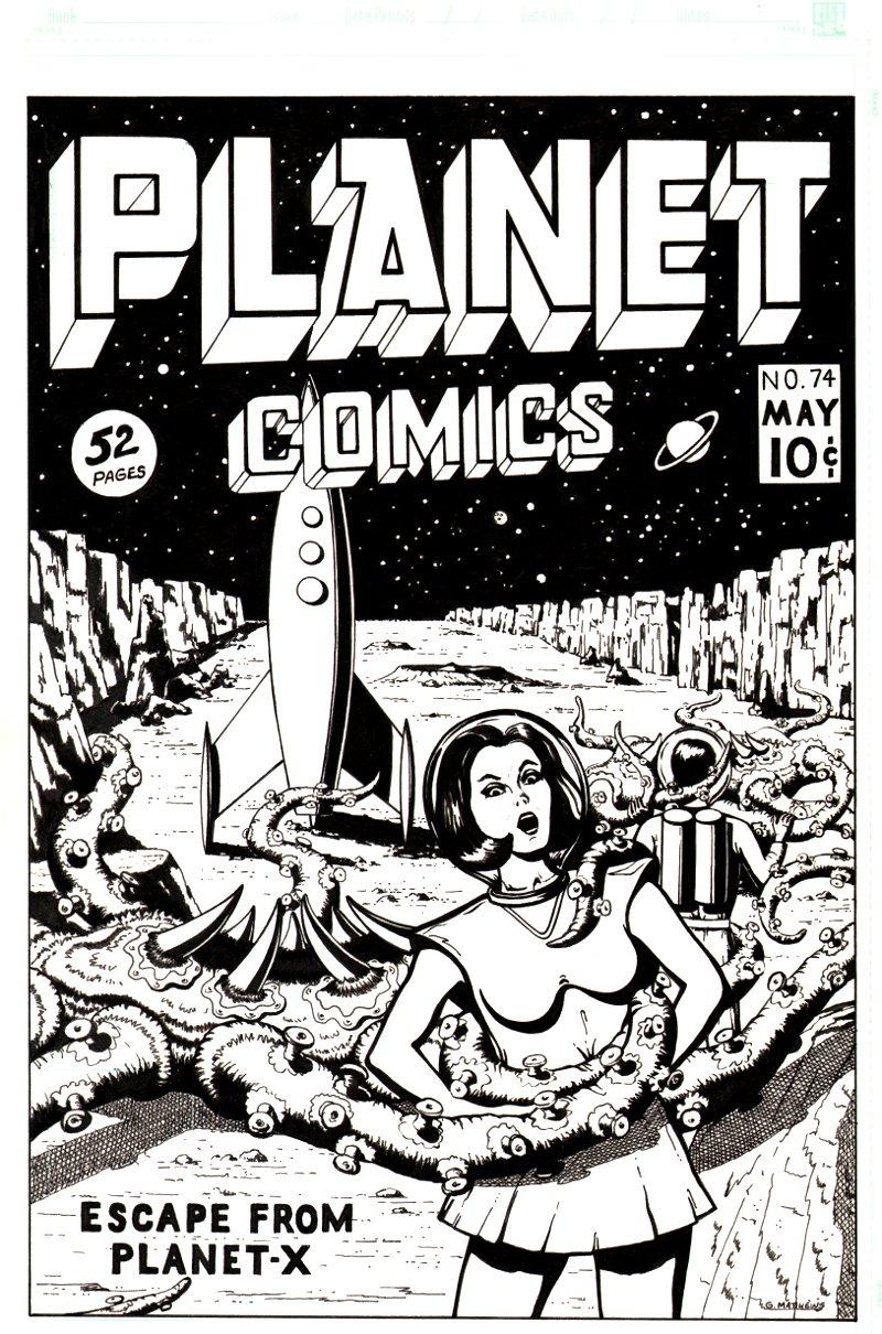 Planet Comics Cover Recreation