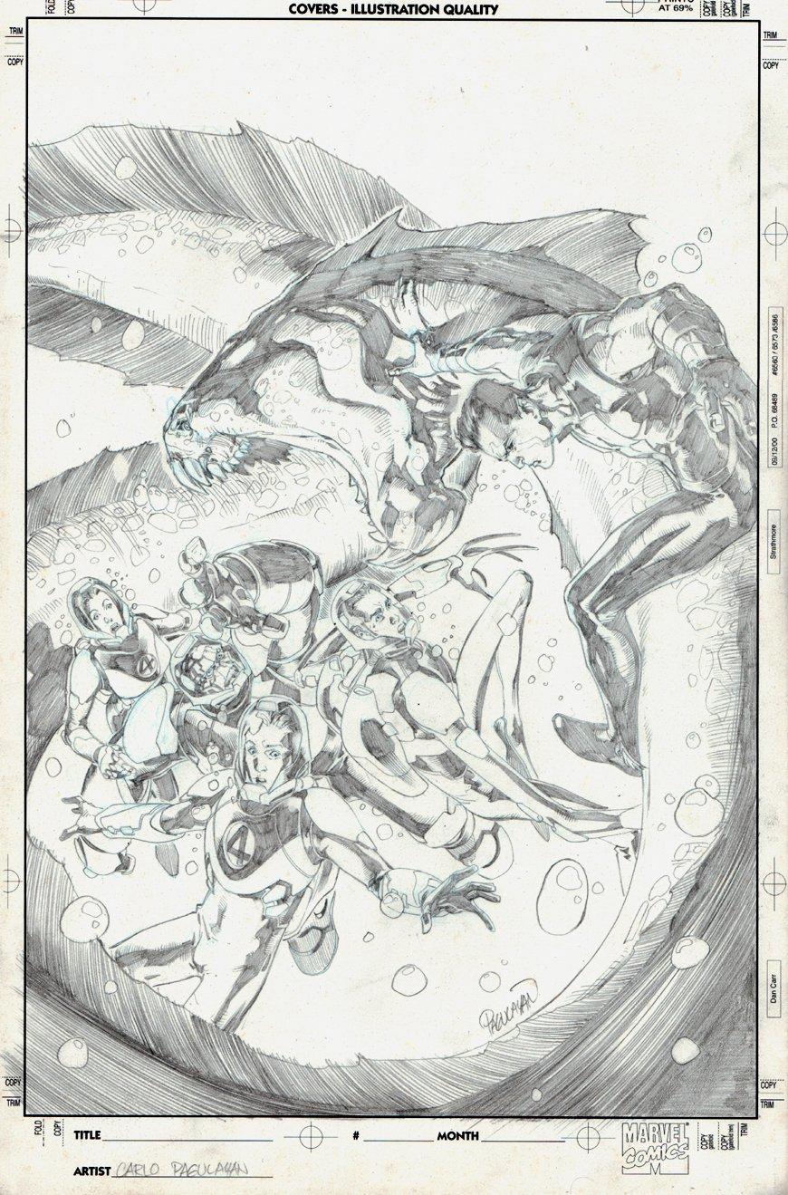 Marvel Adventures Fantastic Four #7 Cover (2005)