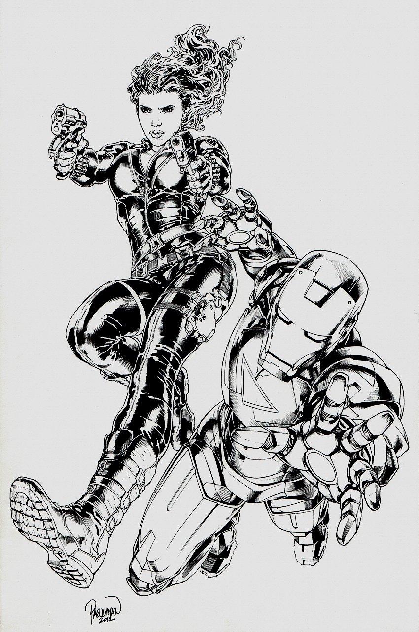 Black Widow / Iron Man Pinup