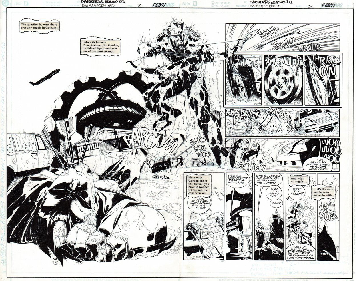 Batman: Orphans #2 p 2-3 Double Spread Splash (2010)