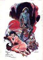 YOR THE HUNTER/ Babe/ Werewolf Illustration (Large) 1976  Comic Art