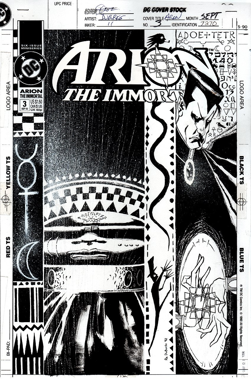 Arion the Immortal #3 Cover (1992)
