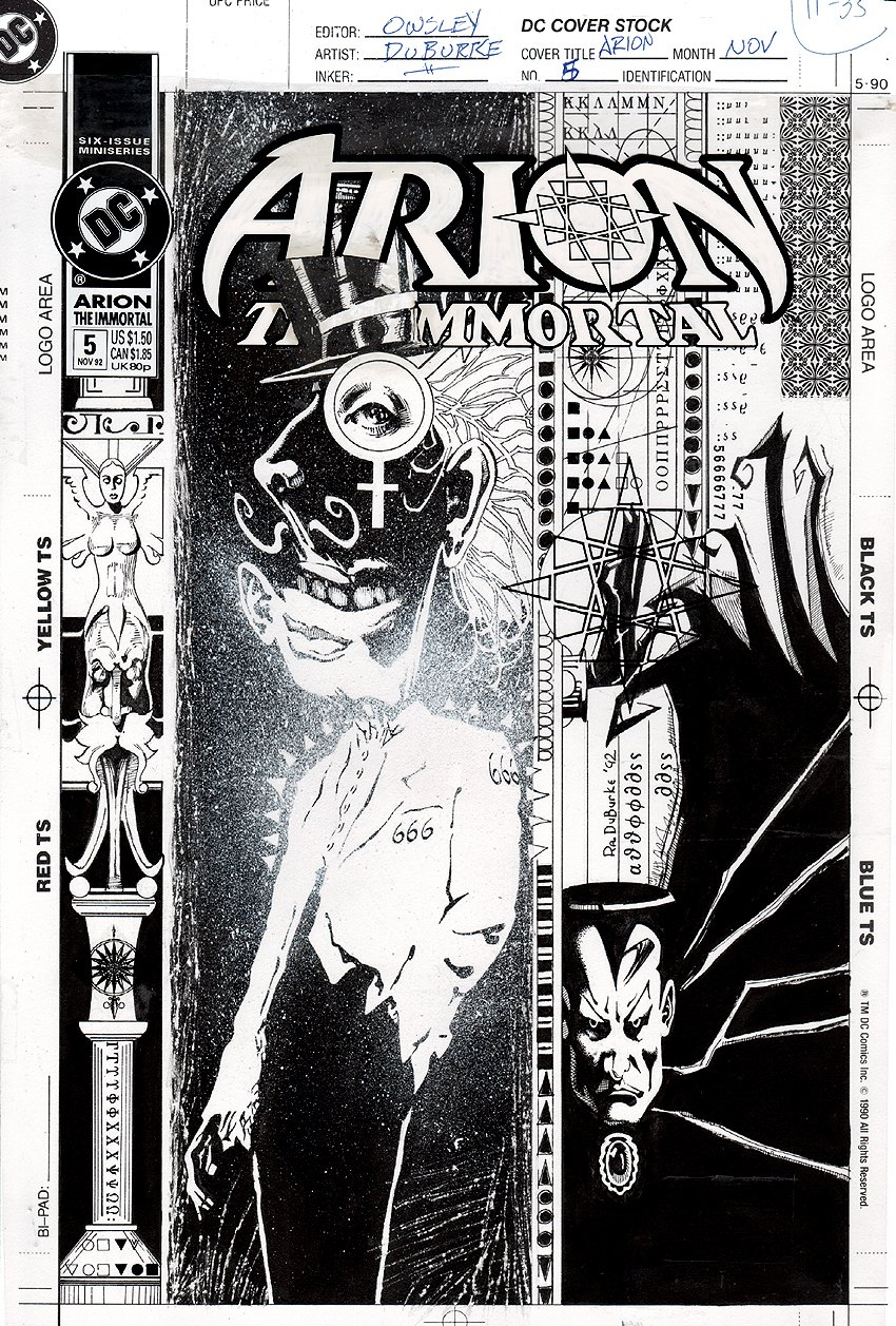 Arion the Immortal #5 Cover (1992)