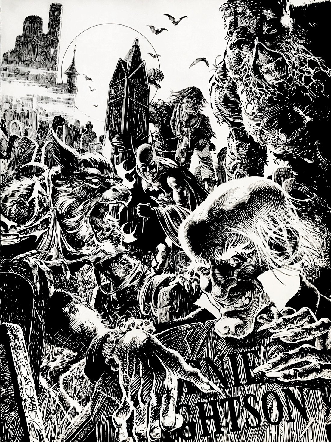 Bernie Wrightson Verty Large Homage Pinup! WOW! (2017)
