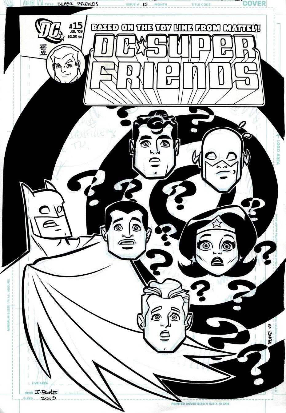 Super Friends #15 Cover (2009)