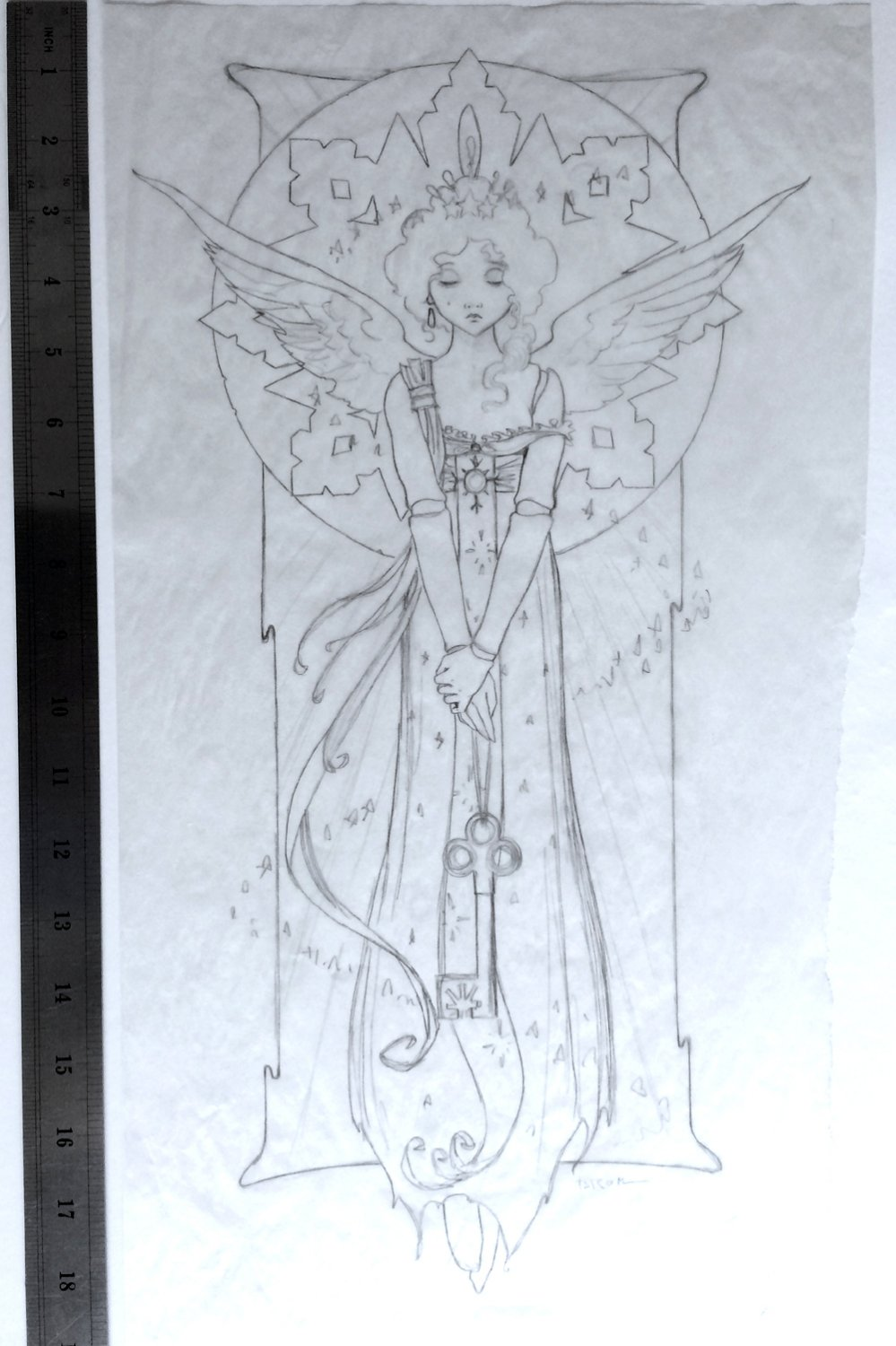 'ANGEL' Final Pencil Study for Painting (2005)
