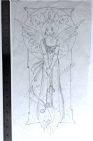 'ANGEL' Final Pencil Study for Painting (2005) Comic Art