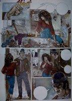 Margot in Badtown p 9 Painting (1991) Comic Art