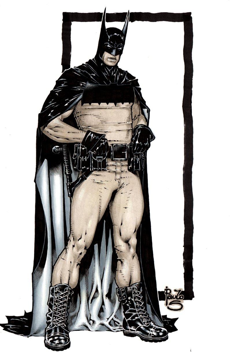 Batman Mixed Media Pinup