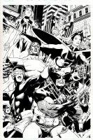 Full 8 Member X-Men Team Pinup....WOW! Comic Art