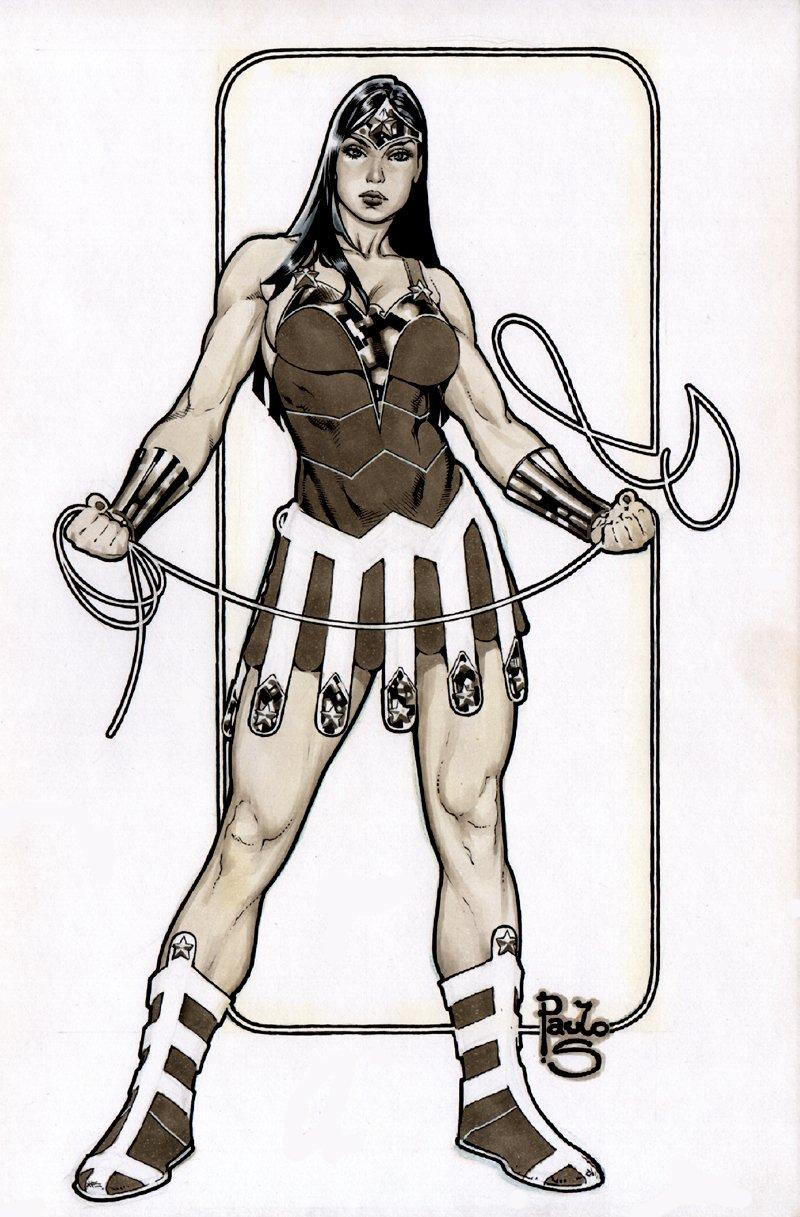 Wonder Woman Mixed Media Pinup