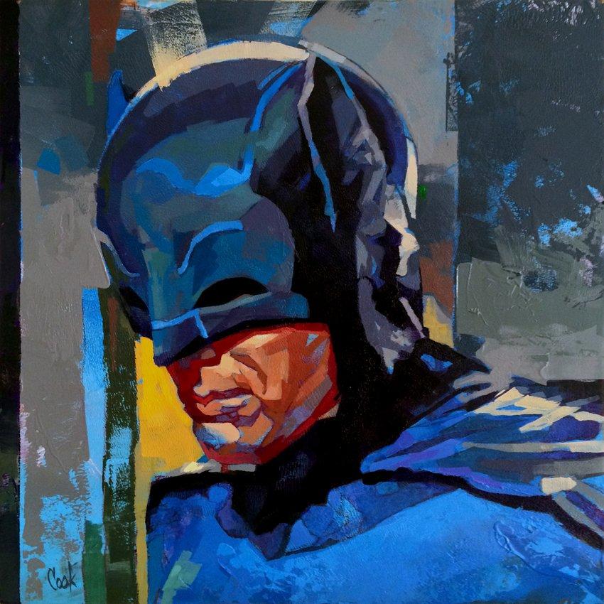 Adam West Batman Painting