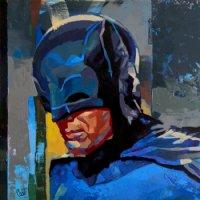 Adam West Batman Painting Comic Art