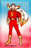 SHAZAM Color Pinup by Golden Age Captain Marvel Artist Comic Art