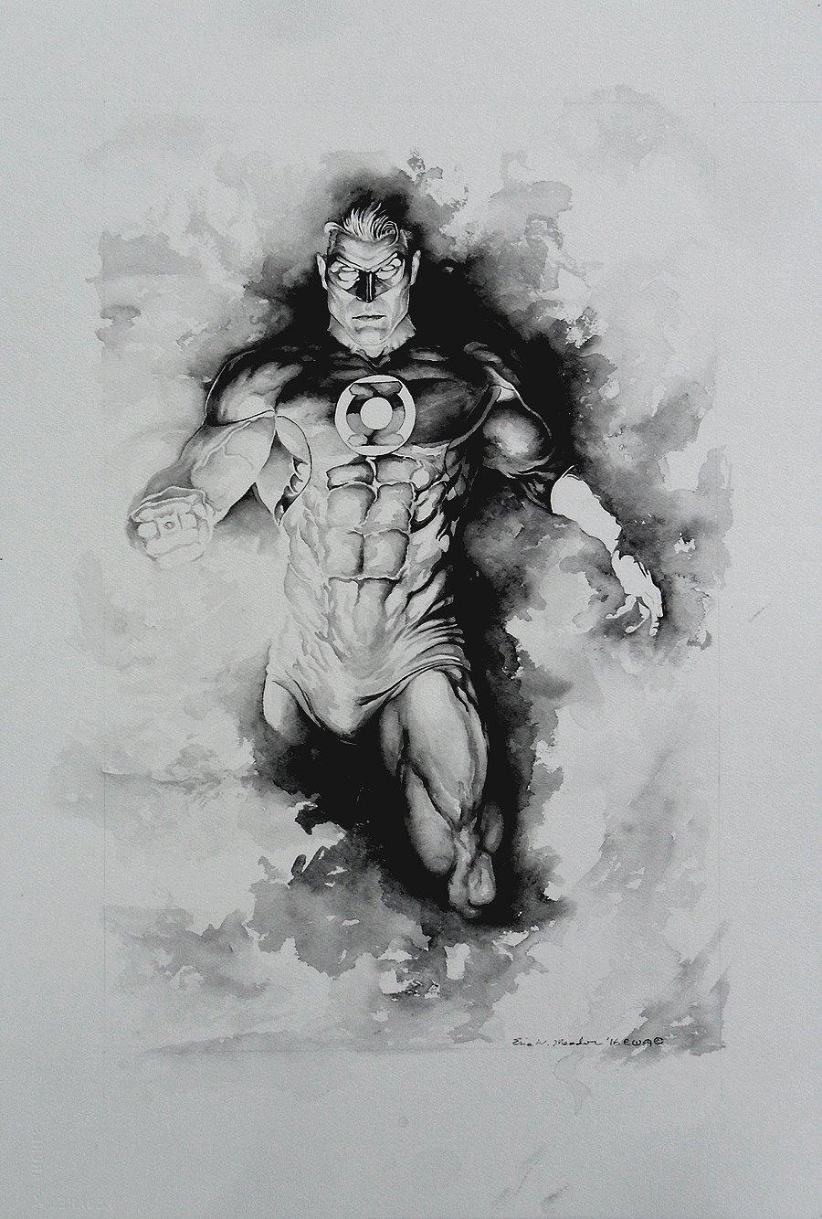 Green Lantern Commission Pinup! WOW! (Large Art) 2016