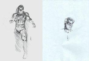2 Green Lantern Pencil drawings on 2 Separate Boards (2016) Comic Art