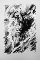 Thor Mixed Media Pinup (Very Large) Comic Art