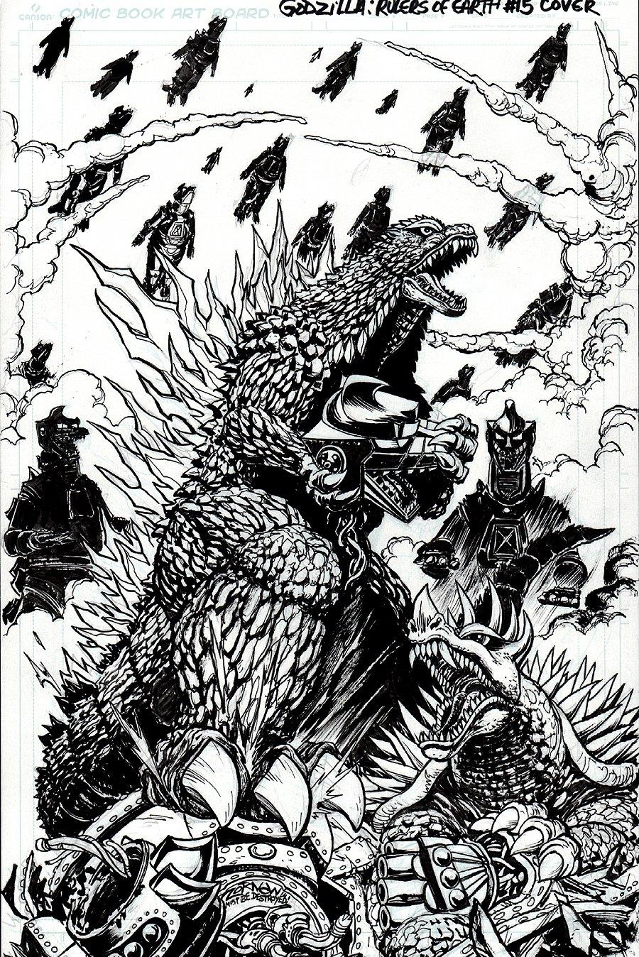 Godzilla: Rulers of Earth #15 Cover (2014)